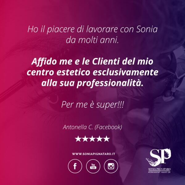 Le opinioni delle clienti di Sonia Trucco Permanente Roma