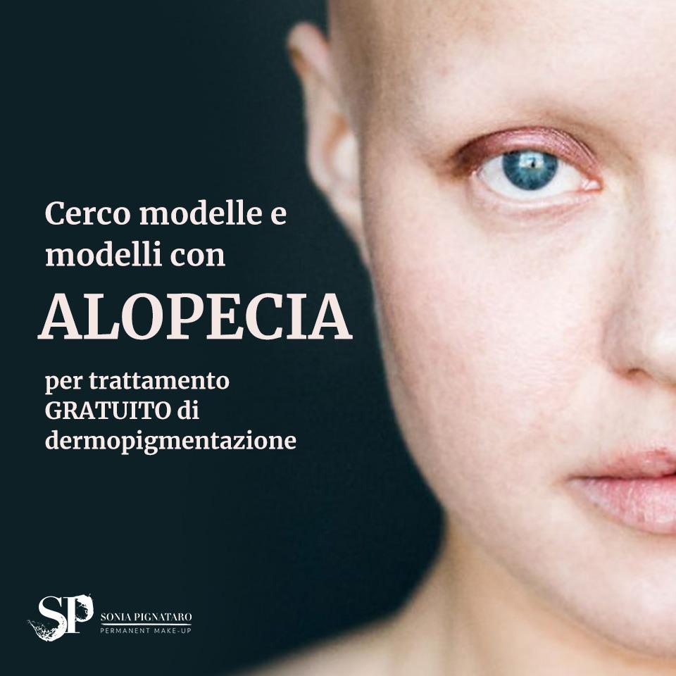 alopecia sopracciglia tatuate con il trucco permanente